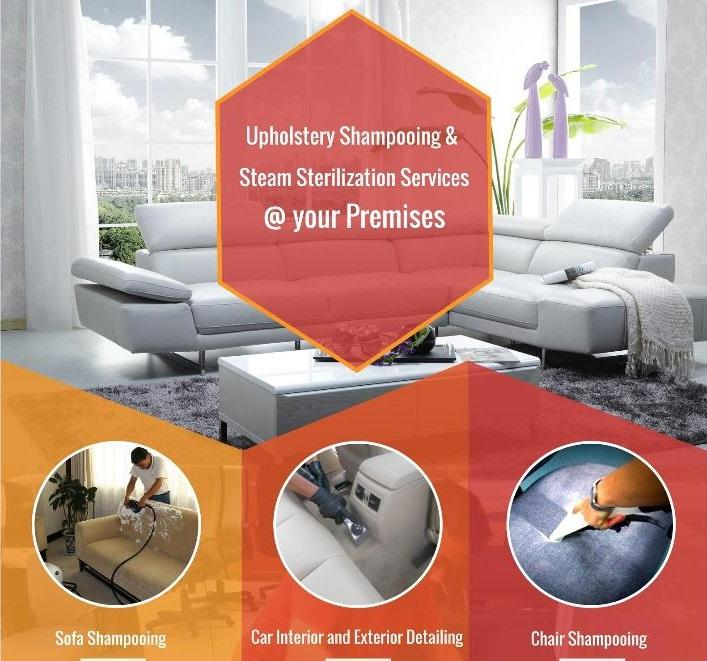 Professional Upholstery Cleaning Service at Door Step
